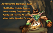 Squeal of Fortune in game Adventurer's grab your gear! banner