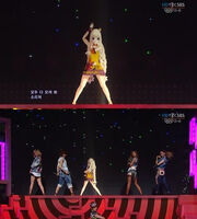 SeeU + GLAM collaboration concert @ Inkigayo
