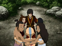 Complete Team Avatar group hug