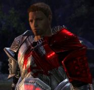 DAO Alistair w Blood Dragon Plate at Camp during Romance Scene