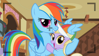 Rainbow Dash with Dinky S2E08