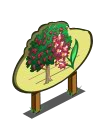 Giant Deep Yellow Wood Tree Mastery Sign-icon