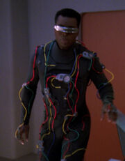 Geordi in interface suit