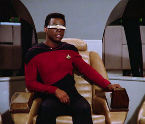 Geordi in command