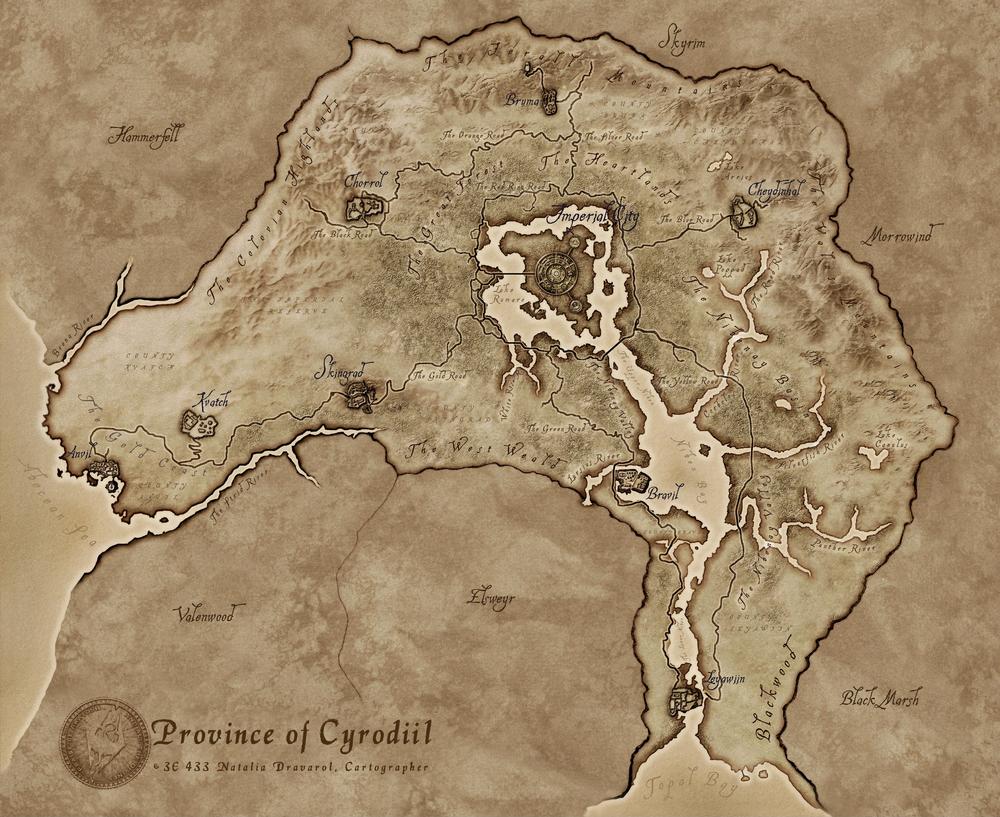 Cyrodiil haritası