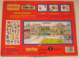 Colorforms 1986 rub n&#39; play transfer set 2