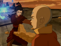 Azula fights Aang