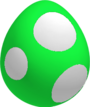 GreenBabyYoshiEggSML3D