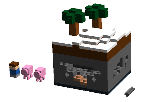 Custom minecraft tundra micro world brickipedia the for Lego world craft