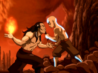 Ozai versus Avatar Aang