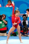 Shawn Johnson competes cropped