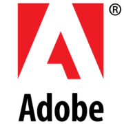 "The letter A in relief surrounded by a red box above the word ""Adobe"""