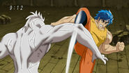 Toriko using Leg Knife on Nitro