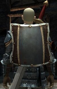 DA2 Fereldan Soldier's Shield on Hawke w Fereldan Longsword and Fereldan Field Armor and Gloves