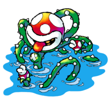 Naval Piranha Artwork - Super Mario World 2