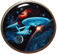 Franklin Mint Star Trek USS Enterprise plate
