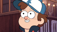 S1e7 dipper smiling at wendy