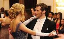 Klaus and Caroline dancing