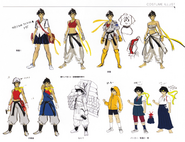 Makoto alternate costumes concept art from Super Street Fighter IV Official Complete Works