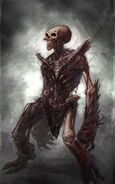 God of war iii conceptart Cursed remains