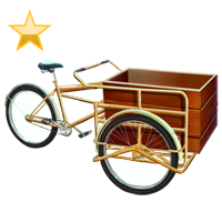 Huge item pedalcart gold 01