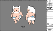 Modelsheet Baby Finn with Diaper