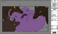 Modelsheet Wolves Biting Lumpy Space Princess - Special Pose