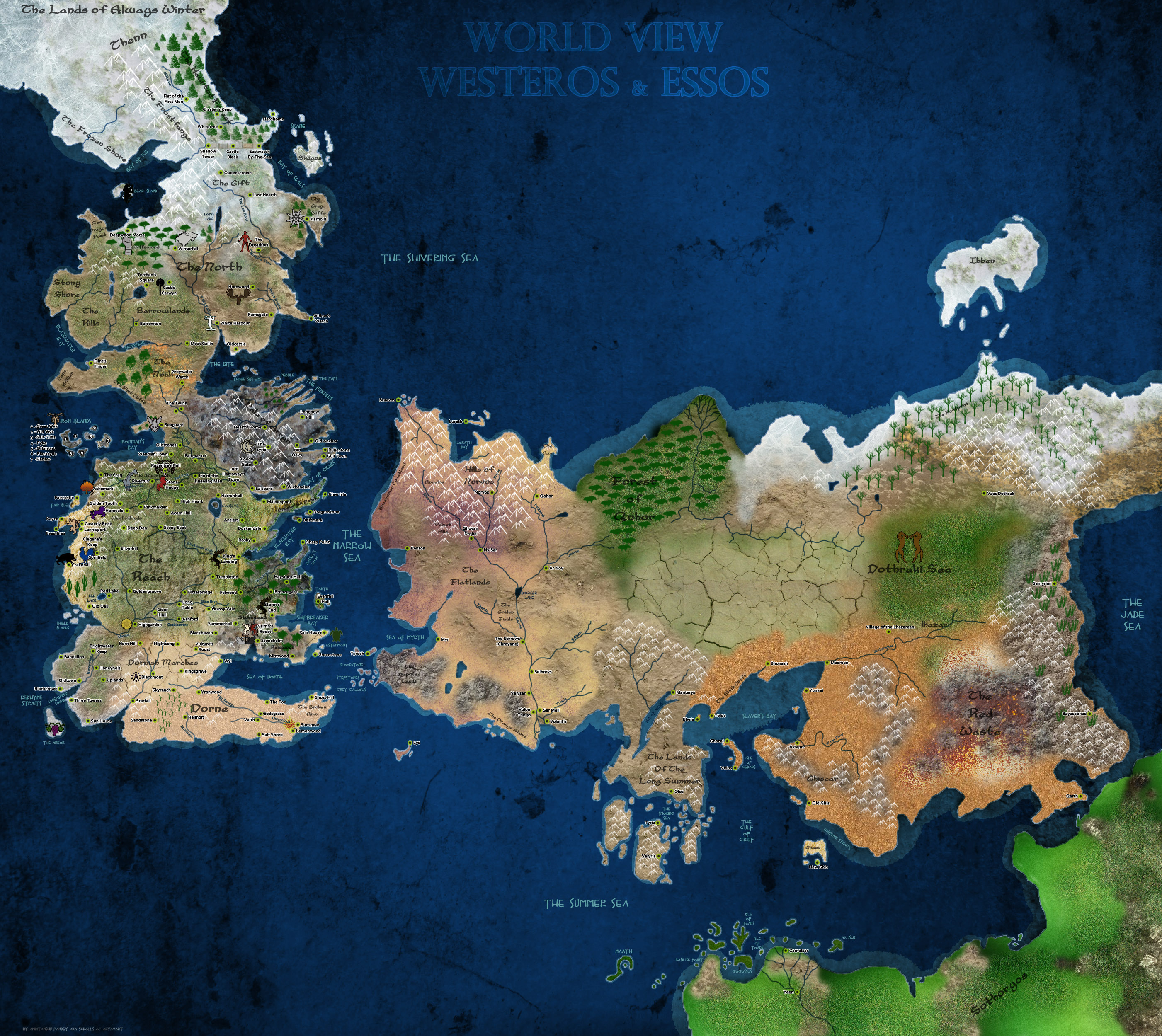 Spoilers All) Is the world of Ice and Fire flat or could it be round ...