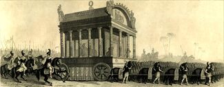 Mid-nineteenth century reconstruction of Alexander's catafalque based on the description by Diodorus