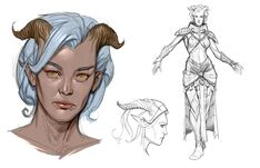 Qunari tamassran concept art (Those Who Speak)