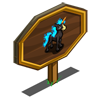 Nightmare Blue Unicorn Foal Mastery Sign-icon