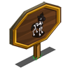 Black Paint Foal Mastery Sign-icon
