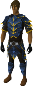 Dragonhide body (g) equipped (blue)