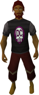 Deathcon t-shirt equipped