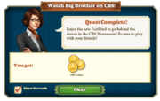 Quest Watch Big Brother on CBS!-Rewards