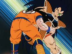 Raditz attacks goku