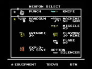 Snakes revenge weapon screen