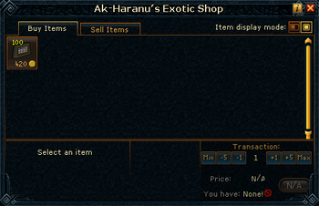 Ak-Haranu&#39;s Exotic Shop stock