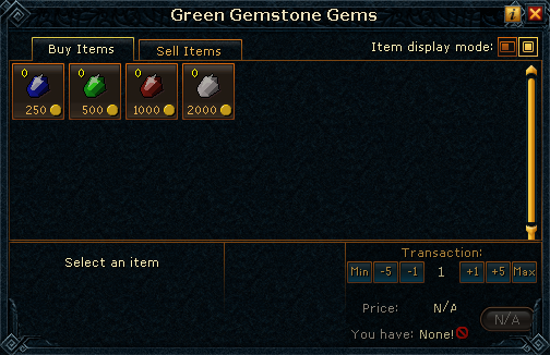 Green Gemstone Gems stock