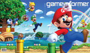 New Super Mario Bros U game informer cover