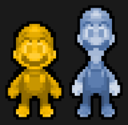 GOLD MARIO AND SILVER LUIGI