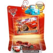 Disney-Pixar-Cars-Movie-2010-Collector-s-Guide-with-Exclusive-1-55-Die-Cast-Ransburg-Dragon-Lightning-McQueen-Metallic-Finish--0