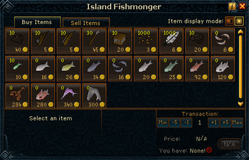 Island Fishmonger stock