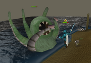 Sea troll Queen fight