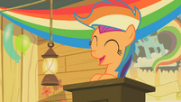 Scootaloo Podium Smiling S2E08