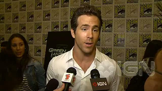 Green Lantern Movie - SDCC 10 Ryan Reynolds