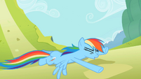Rainbow Dash Hitting Ground S2E08