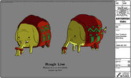 Modelsheet treetrunks inxmassweater withrims