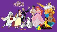The cast of the little mermaid