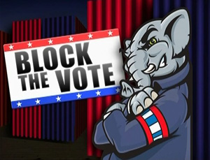 Voting suppression-Block the vote